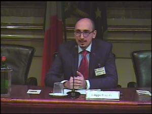 Dr. Pergola alla Camera dei Deputati mentre presiede il congresso internazionale APRE 2011