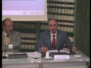 prof. Pergola, presidente APRE e direttore dei Centri, interviene ad un convegno alla Biblioteca del Senato con il prof. Lo Verso